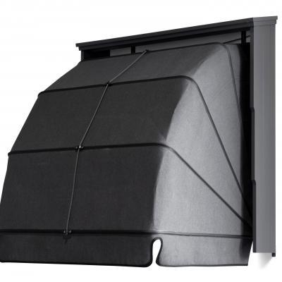 aluminium zijkap type golf met groef